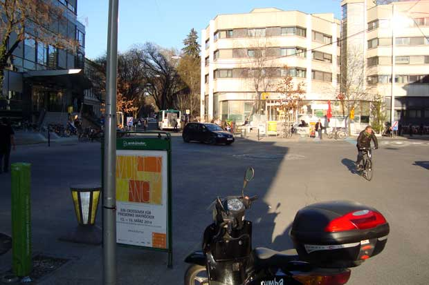 Shared space (pješaci, biciklisti, automobili) - Graz