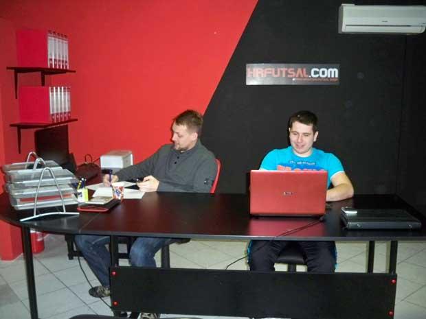 Tomisal Ciković i Marijan Palić u osječkom uredu HRfustal.com